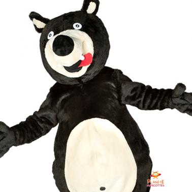 Mascotte ours détail Planète Mascottes