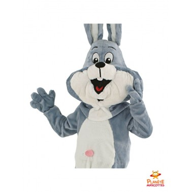Costume mascotte de lapin aux grandes oreilles