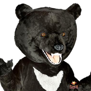 Détail mascotte ours Planète Mascottes