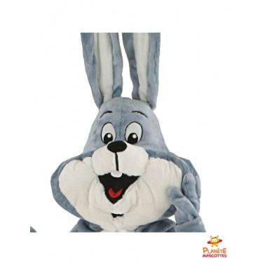 Tête costume mascotte lapin grandes oreilles