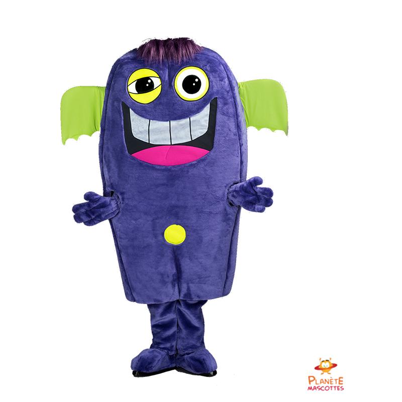 Mascotte martien violet Planète Mascottes
