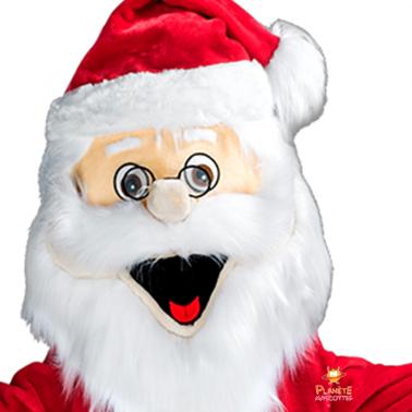 Tête mascotte Père Noël Planète Mascottes
