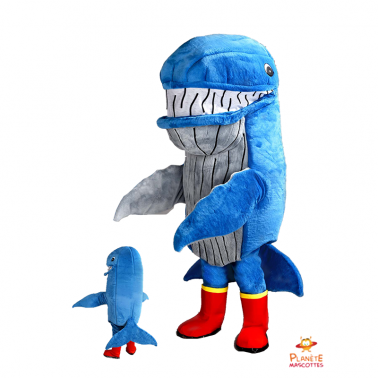 Mascotte baleine Planète Mascottes