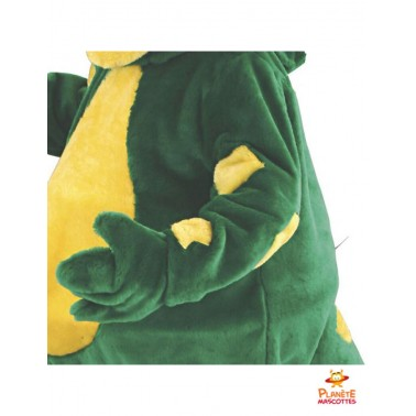 Détails costume dragon mascotte