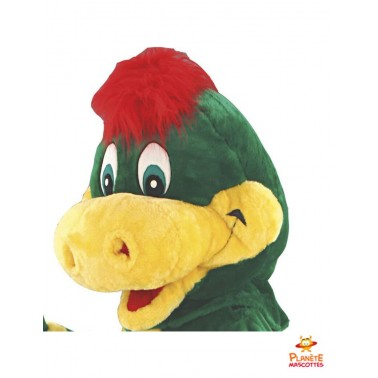 Tête costume mascotte dragon