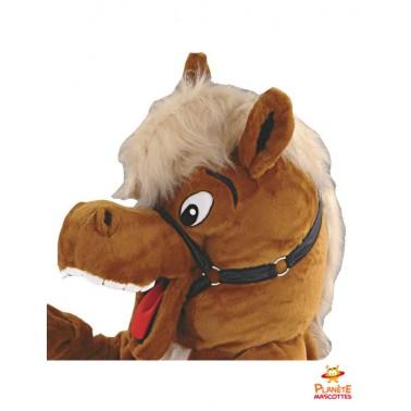 Tête mascotte de cheval
