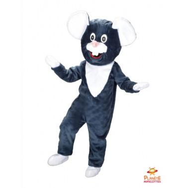 Disfraz de ratón negro Planète Mascottes