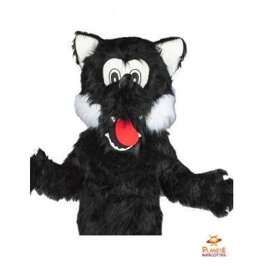 Tête mascotte loup Planète Mascottes