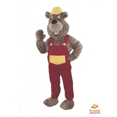 Builder Marmot Mascot Costume