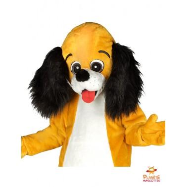 Tête mascotte chien Planète Mascottes