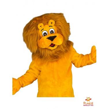 Tête mascotte lion Planète Mascottes