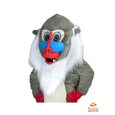 Tête mascotte singe Planète Mascottes