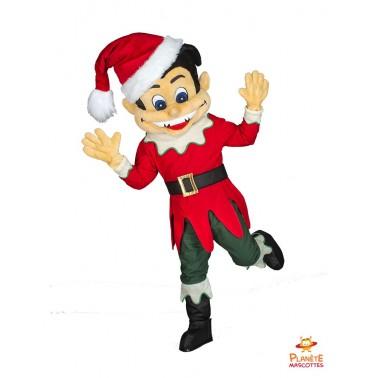 Mascotte lutin de Noël Planète Mascottes