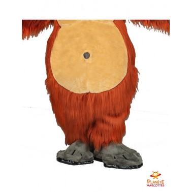 Jambes mascotte orang-outan Planète Mascottes