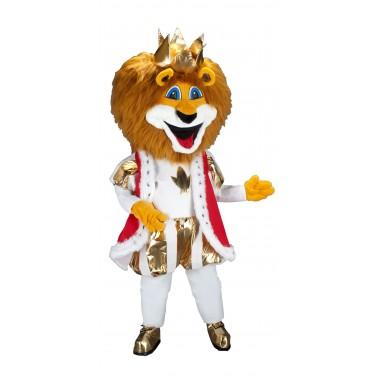 Mascotte de Roi Lion Rouge