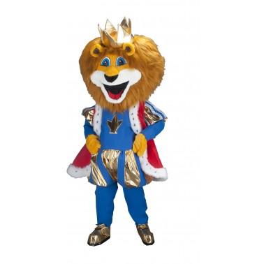 Mascotte Roi Lion bleu Planète Mascottes
