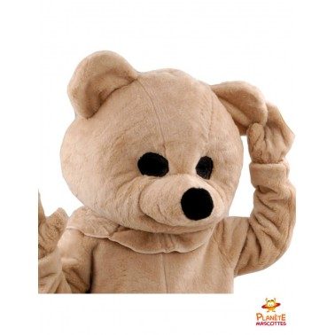 Costume mascotte ours en peluche