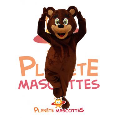 Mascotte ours marron