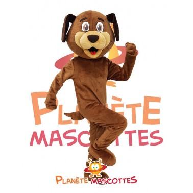 Mascotte chien marron