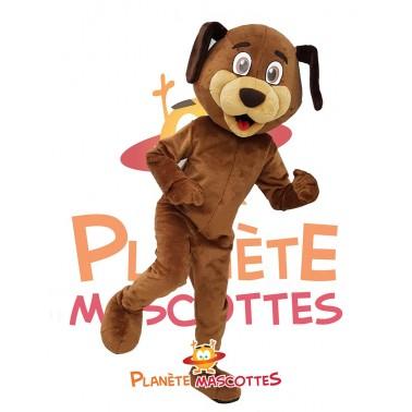 Costume chien marron mascotte
