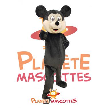 Mascotte de souris noire.