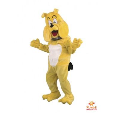 Mascotte chien bulldog Planète Mascottes