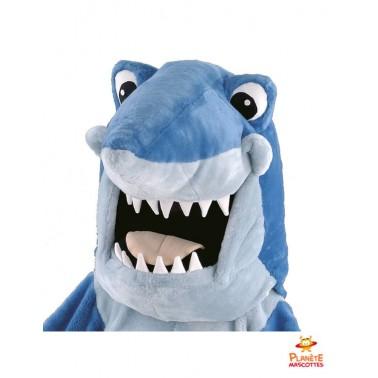 Tête mascotte de requin