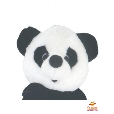 Tête mascotte de panda