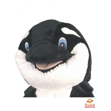 Tête costume mascotte orque