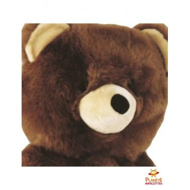 Tête mascotte d'ours brun