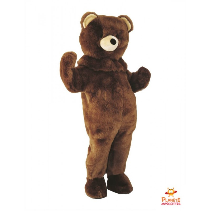 Mascotte ours brun Planète Mascottes