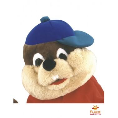 Visage mascotte écureuil Planète Mascottes