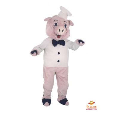 Mascotte cochon cuisinier Planète Mascottes