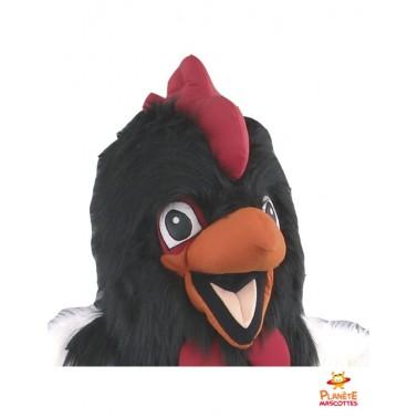 Tête costume mascotte de poulet