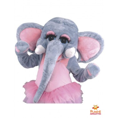 Costume mascotte éléphant tutu