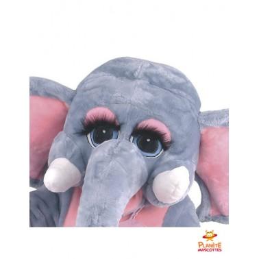 Tête costume mascotte d'éléphant
