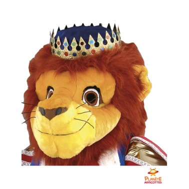 Tête costume mascotte Roi Lion
