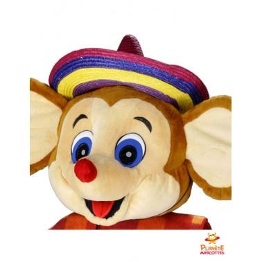 Tête mascotte souris mexicaine