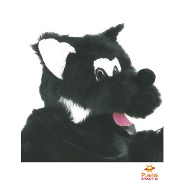 Visage mascotte loup