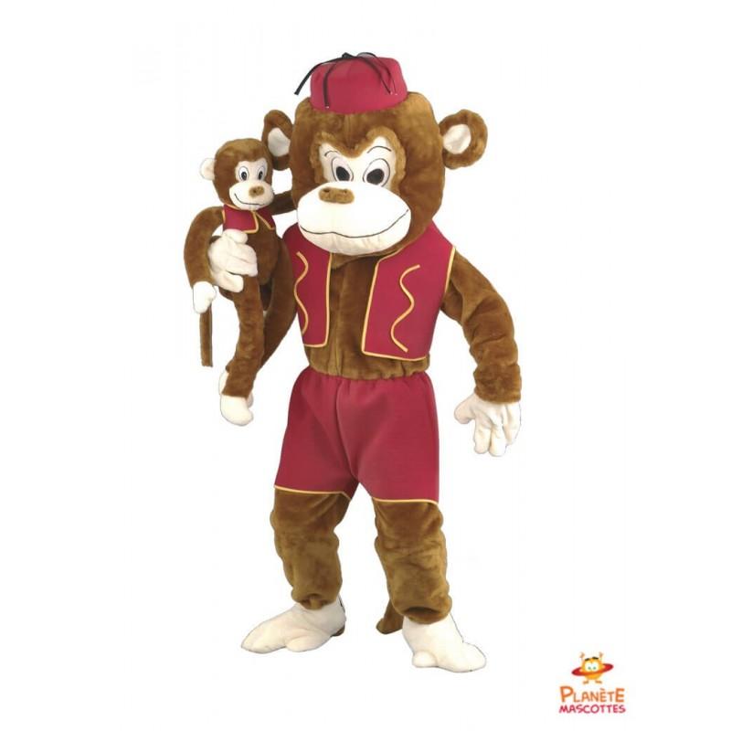 Mascotte singe habillé Planète Mascottes