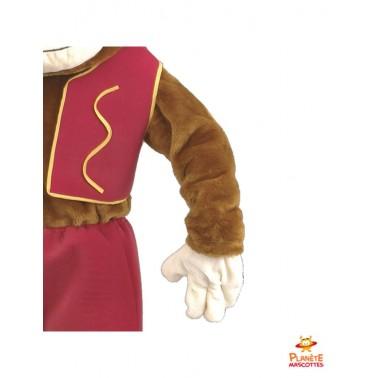 Détails costume mascotte singe habillé