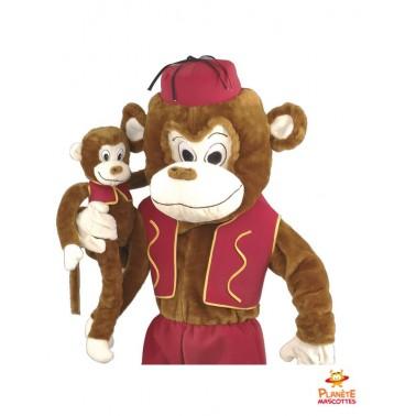 Costume mascotte singe habillé