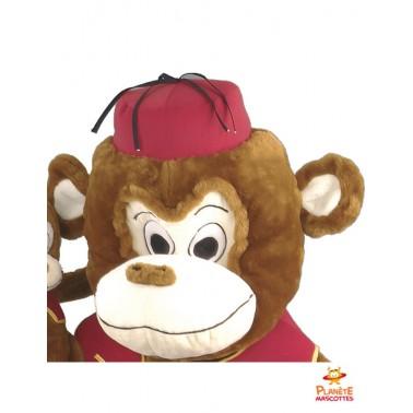 Tête mascotte de singe habillé