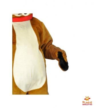 Détails costume mascotte renne