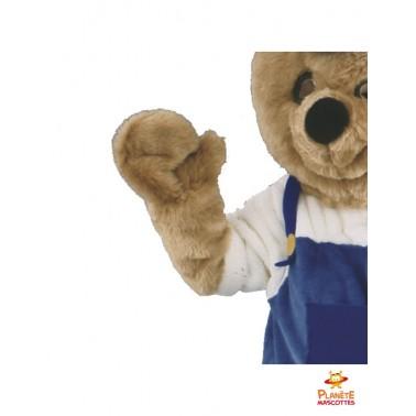 Détails mascotte ours habillé
