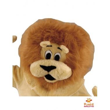 Tête de lion costume mascotte