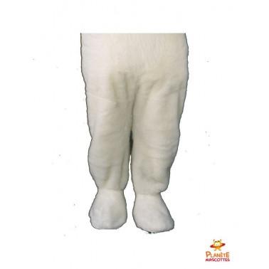 Pantalon mascotte ours blanc