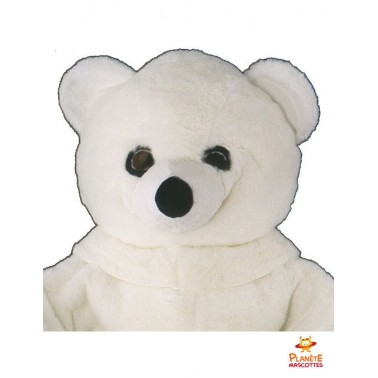 Costume mascotte ours blanc