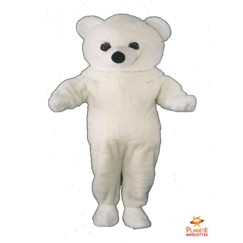 Mascotte ours blanc Planète Mascottes