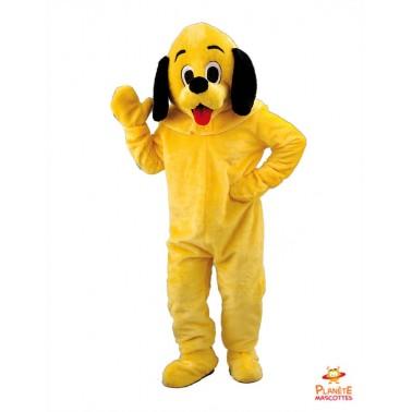 Disfraz de mascota de perro amarillo Planète Mascottes